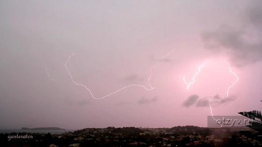 Гроза на Корфу в ночь с 13 на 14 сентября 2014 г.