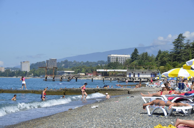 Пляжи абхазии фото 2018