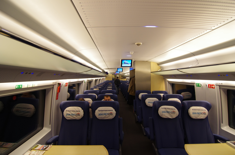 Скоростной поезд Сапсан Москва  СанктПетербург