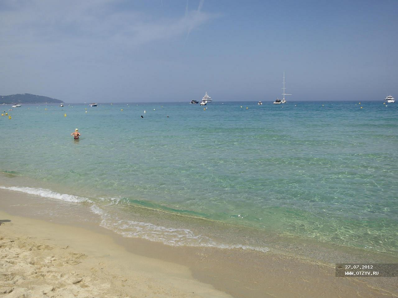 Пляж в лазурному