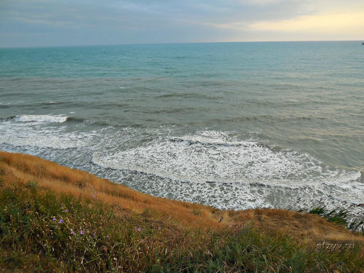 Анапа пляж на высоком берегу фото