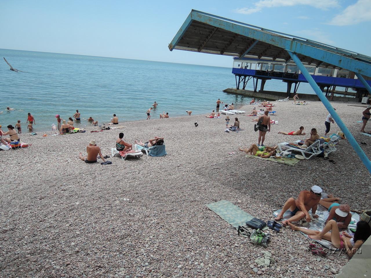 Гурзуф пляжи крым фото