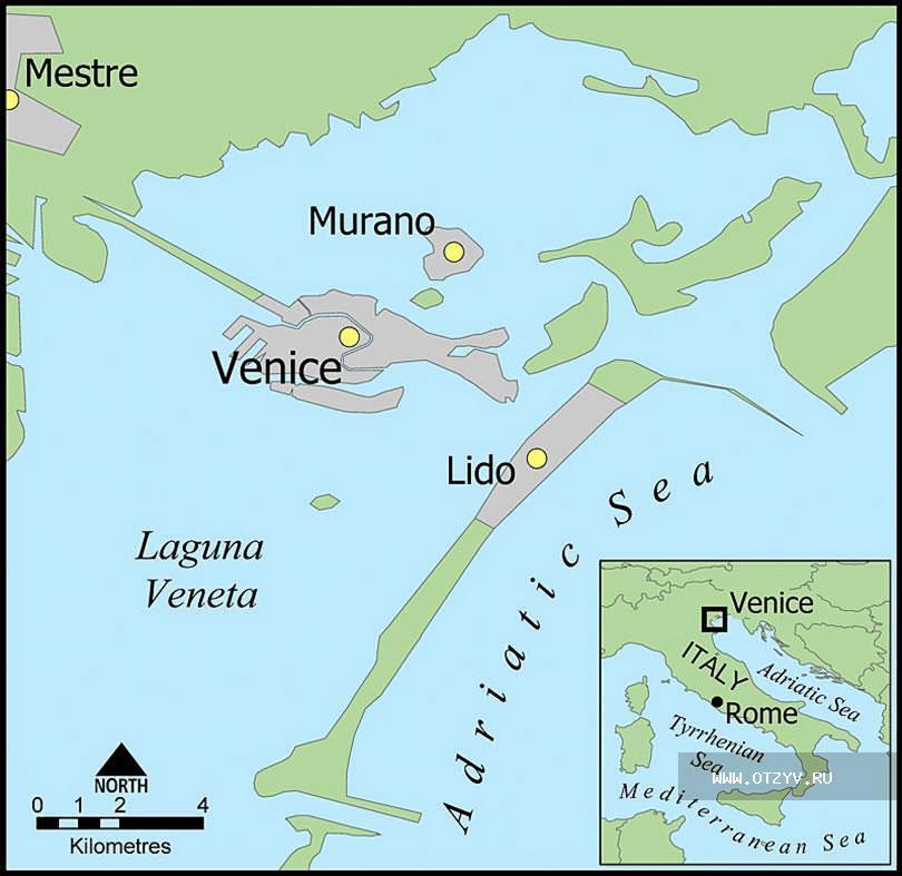 Обращенный к Венеции берег