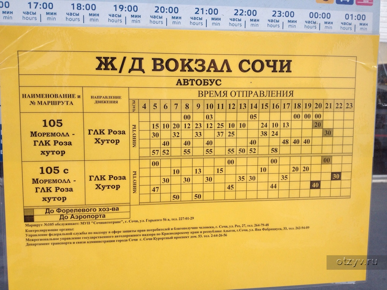 Схема автобуса 125