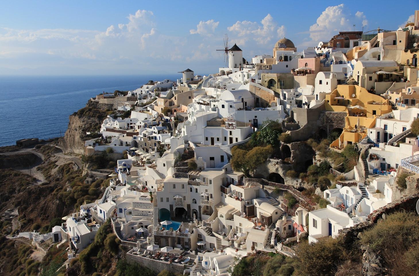 длинное фото деревни ия в греции остров санторини пожелание доброго