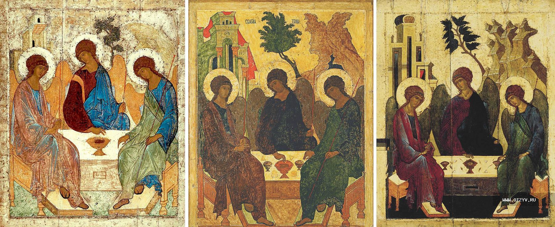 икона троица андрея рублева: