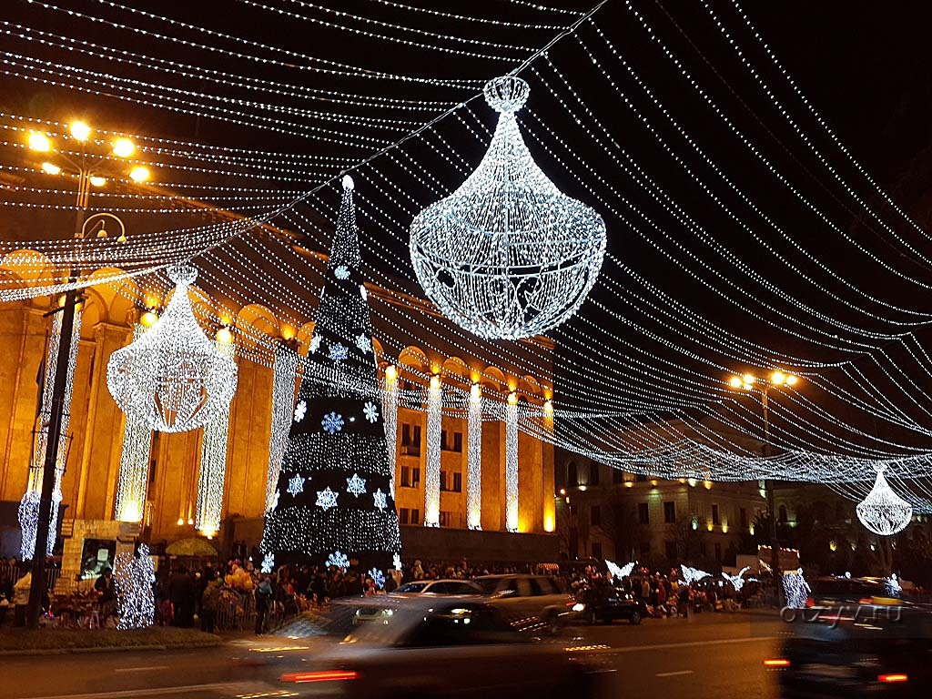 бесплатные интерактивные новый год фото грузия свет