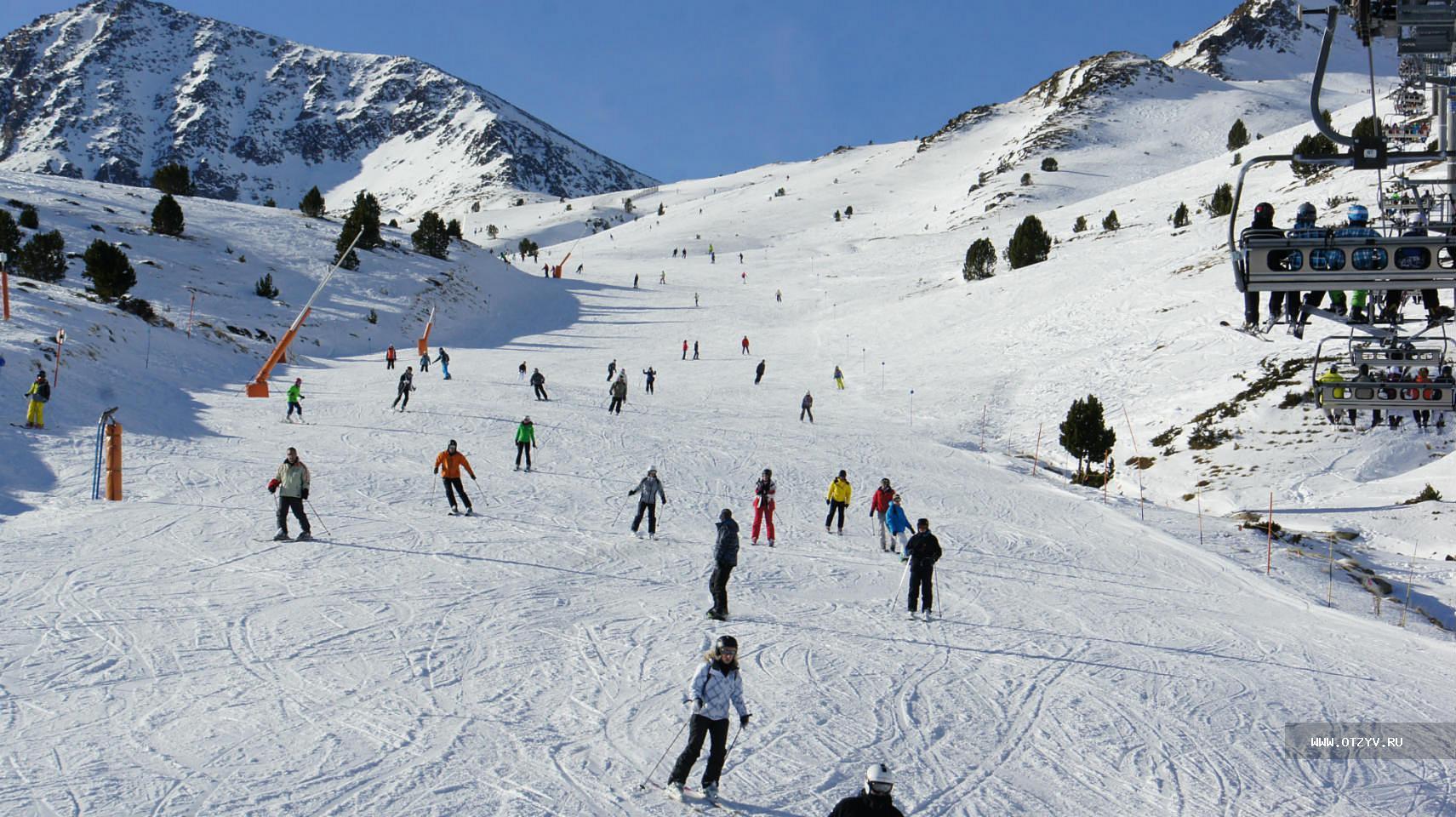 Популярный горнолыжный центр в Андорре !