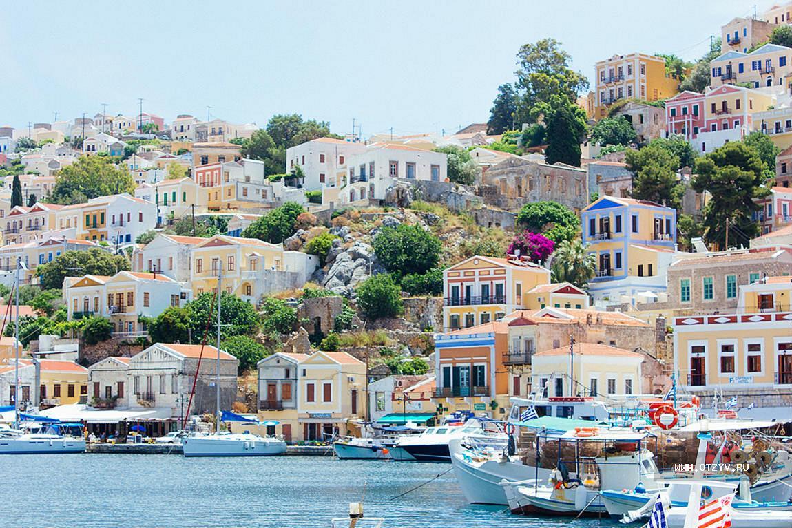 Город Филараки. Родос. Греция.