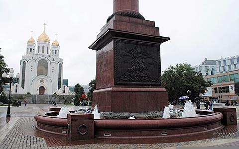 Мемориальный комплекс с арками и колонной Тушинская памятник с ангелом География и экономика