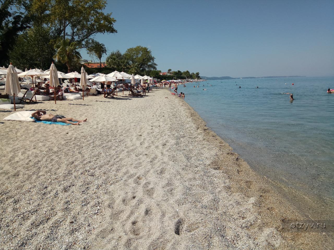 Пляж в ханиоти фото